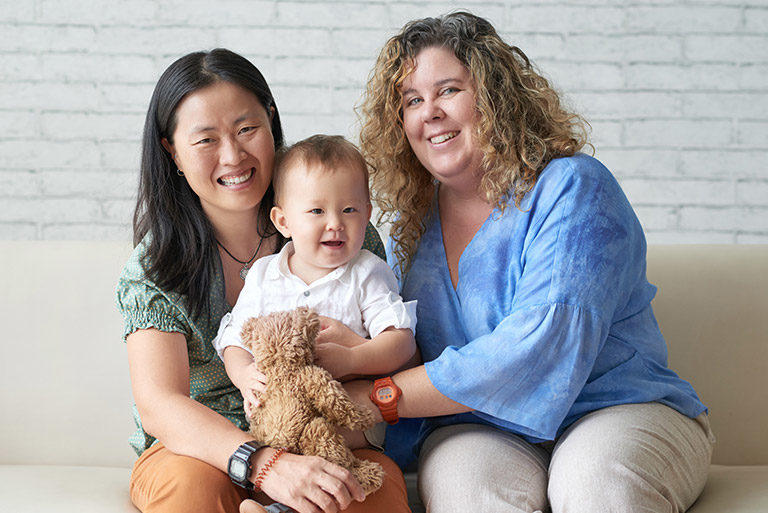 Lesbian couple with toddler